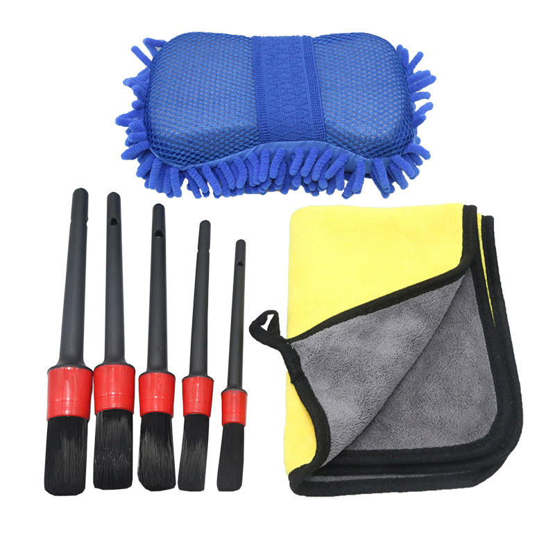 Multifunctionele Draagbare 7 Pcs Car Care Wasmachine Schoonheid <span class=keywords><strong>Auto</strong></span> <span class=keywords><strong>Wassen</strong></span> Handdoek Borstel Car Cleaning <span class=keywords><strong>Tool</strong></span> <span class=keywords><strong>Set</strong></span>