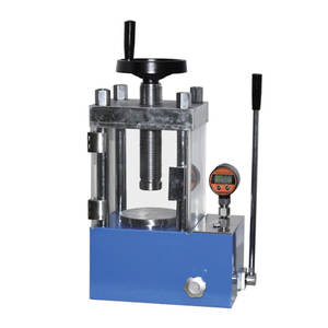 Ollital protect hand 24t lab digital display manual hydraulic pellet press for powder