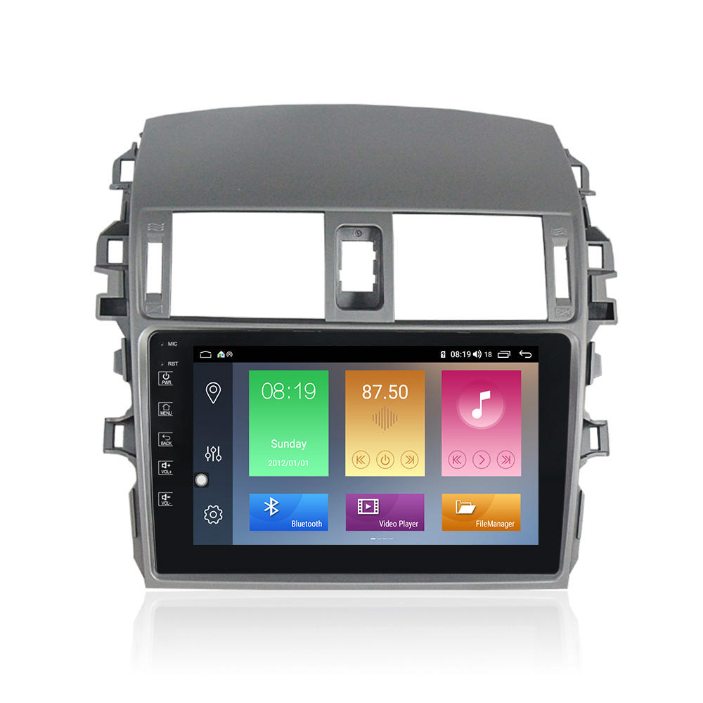 Mekede Android10.0 Quad Core Ips Car Audio Radio per Toyota Corolla 2006-2013 Car Multimedia System 2.5D 4G wifi Ahd Bt Swc