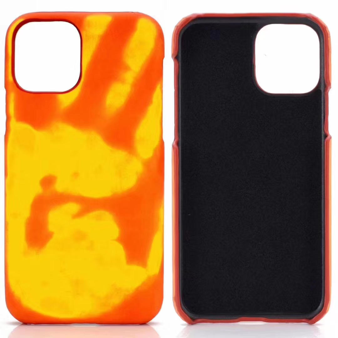 New Universal Thermal Induction Touch Discoloration PU Material Mobile Phone Protective Shell