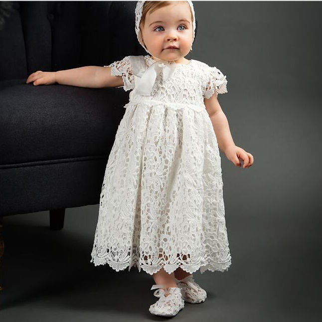 Maxi Baby Christening DressesためGirls Vintage Baptism Dress Baby Girls 2 Year Birthday OutfitsためKid Baby Party Wear Wedding