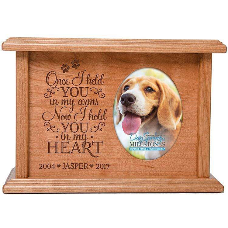 Roundfin Peaceful Memorial Keepsake Urn mit Photo Box For Dog Cat