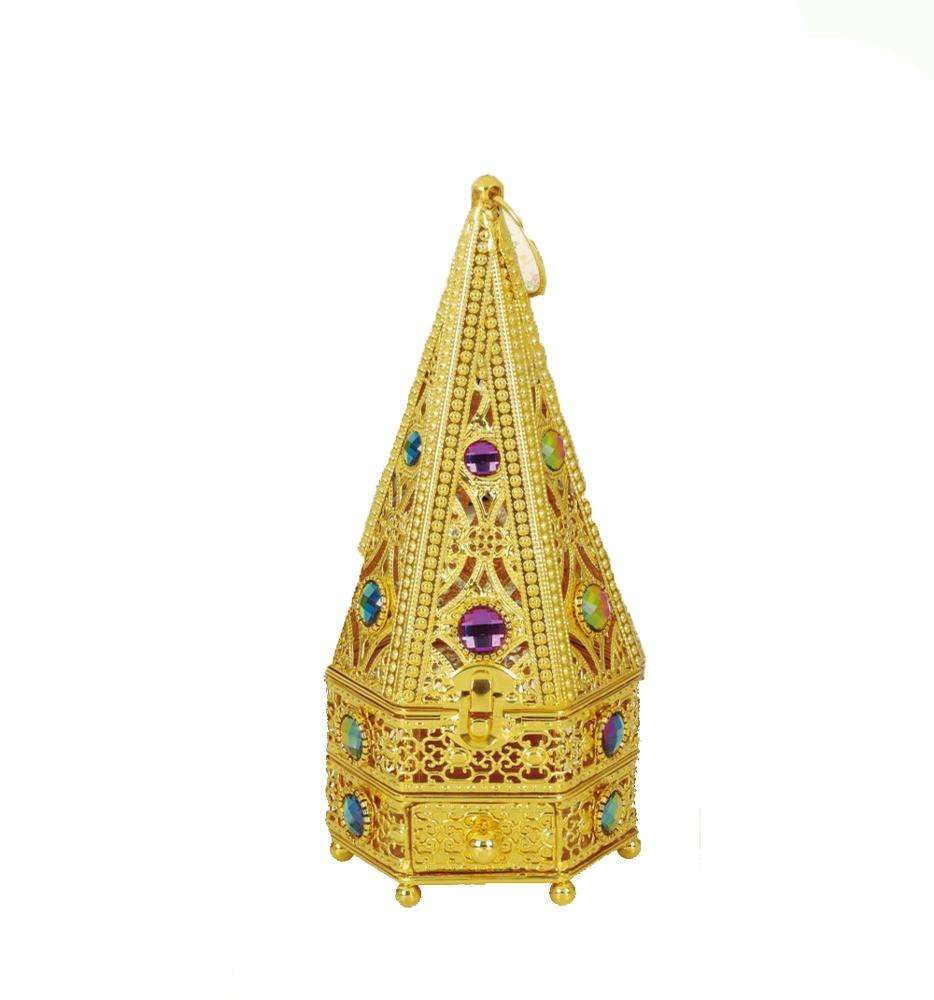 Gold silver Middle East Style luxury electric incense burner arabic for bakhoor