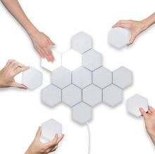 Quantum Light Led Hexagonal Lamps Modular Touch Sensitive Lighting Magnetic Hexagons Creative Decoration Wall Led Night Light