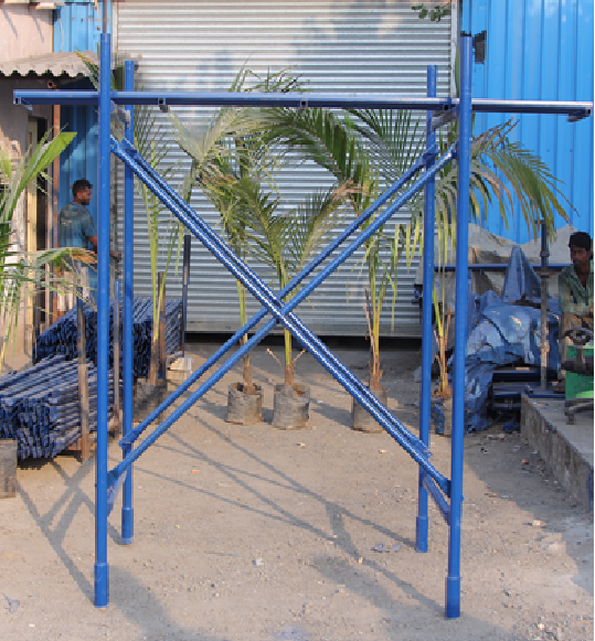 Safety masonry material steel frame scaffolding used door frame scaffolding with attractive and resanble price