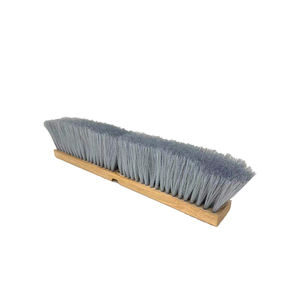 Outdoor Wooden Push Broom; Public Floor Cleaning Brush