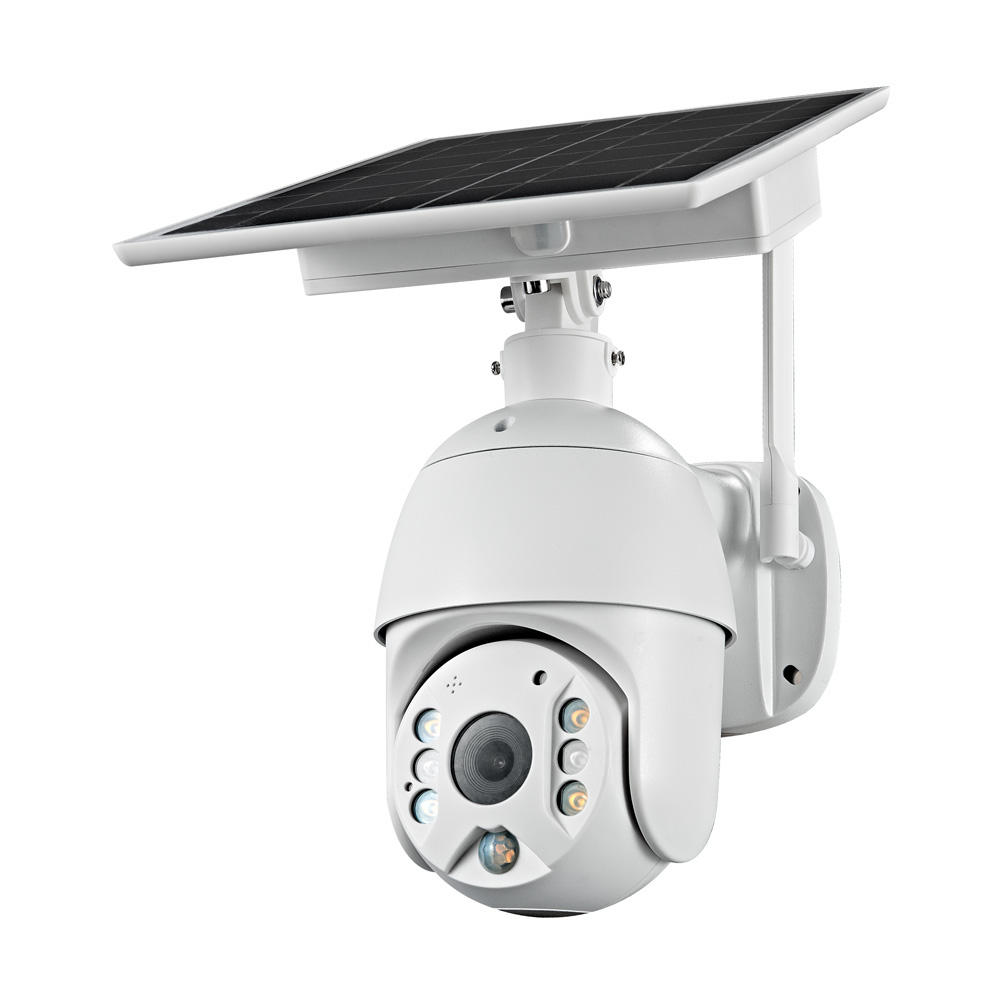 Full HD 1080P 4G Version Outdoor Solar Security CCTV Camera Support 4G sim card-4G Version