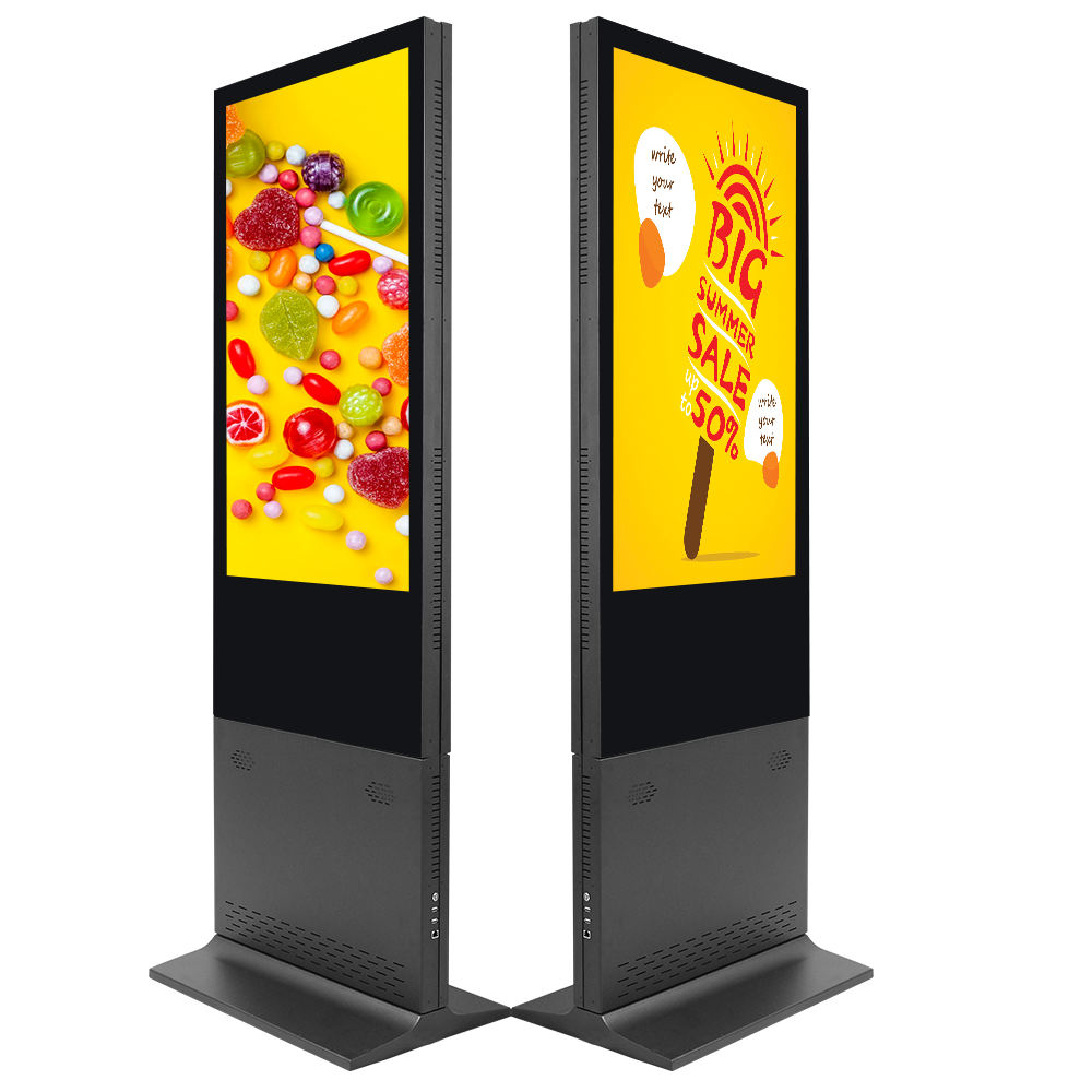 43 49 55 65 inch floor stand alone hd lcd sun readable interactive digital signages computer Intel i3 IR touch screen kiosks