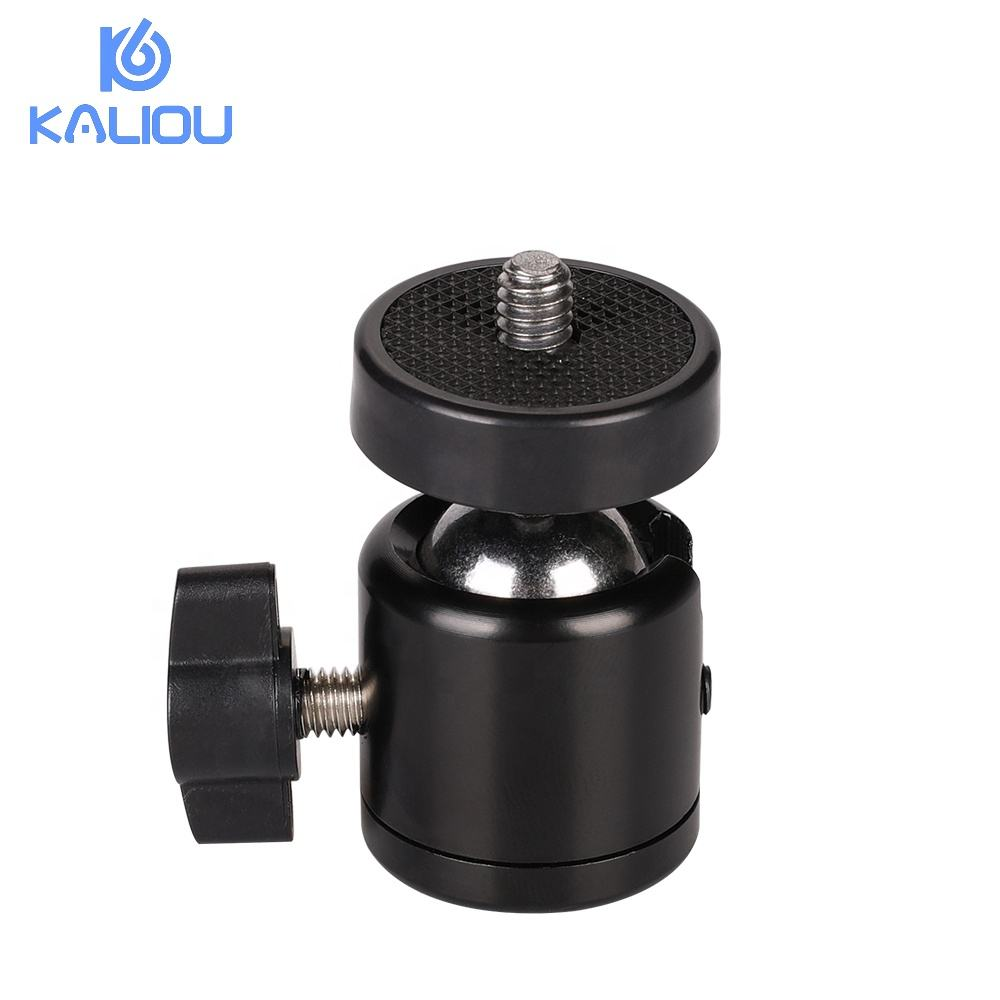 "Kaliou camera tripod ball head mount 360 degree swivel 1/4"" ball head screw mini ball head"