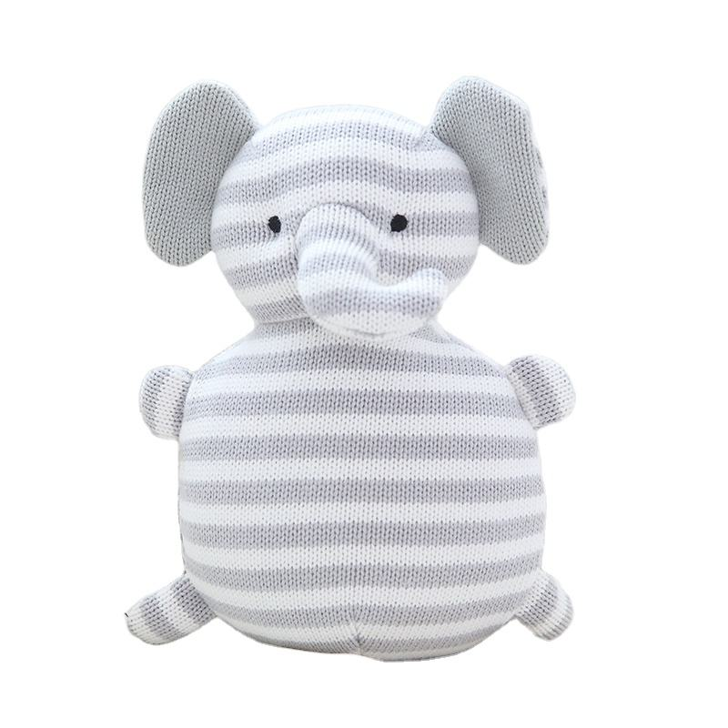 crocheted animal baby amigurumi customized knit stuffed animal totoro elephant bear unicorn bunny stitch plush toy