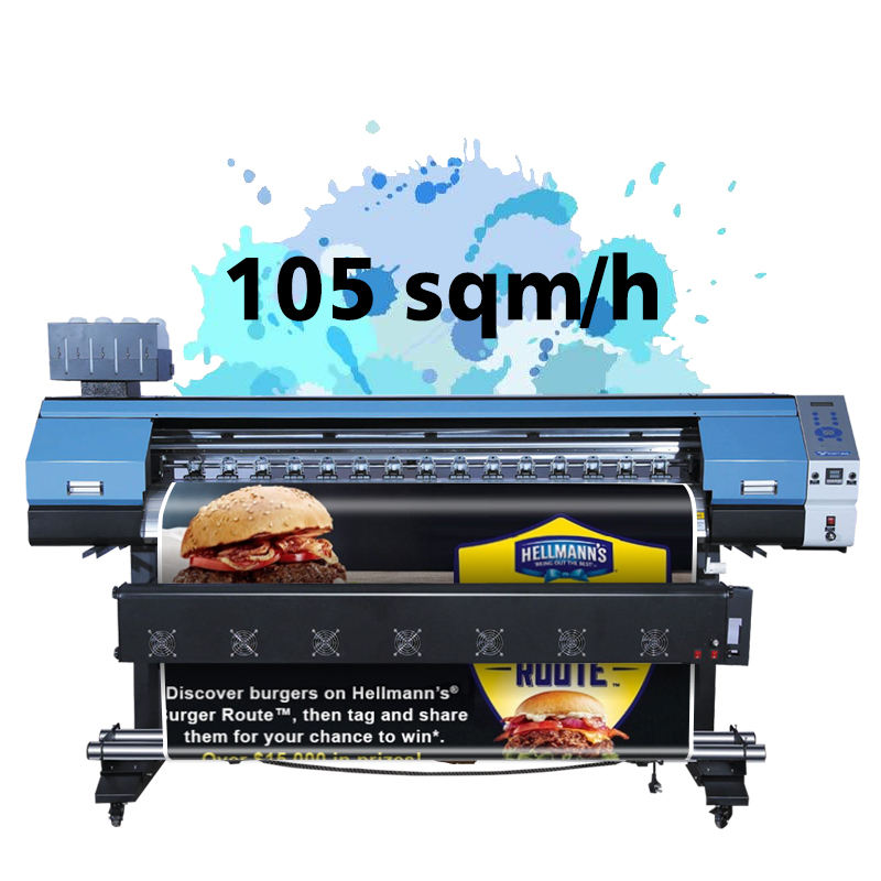 1.6M 1.9M 2.6M 3.2M Dx5 Dx7 Xp600 Print Head Printer Format Besar Kanvas Vinyl Spanduk Poster Inkjet Eco Pelarut Printer