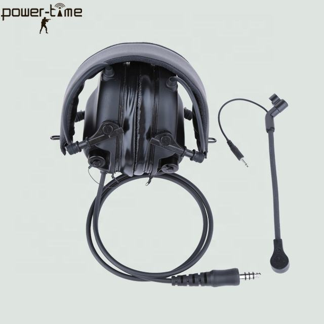 foldable ACH/ ARC Tactical Communication Headset for military and SWAT operations