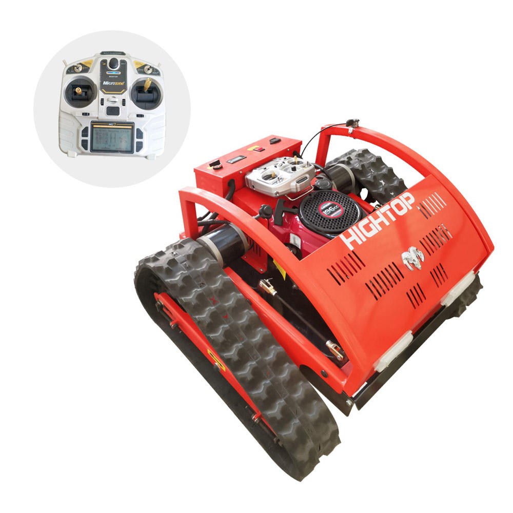 2021 new Mini Crawler Type Remote Control Robot Gasoline Engine Lawn Mower bigger power