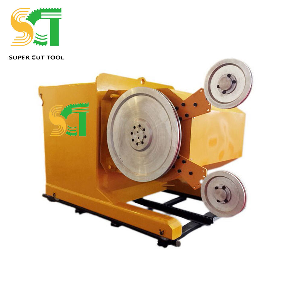 PLC Great Impact Diamond Wire Stone Saw Mill For Dressing Marble