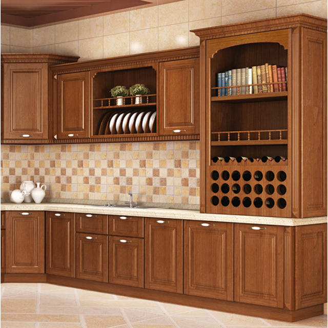 solid wood Modular kitchen cabinet from china (American standard )