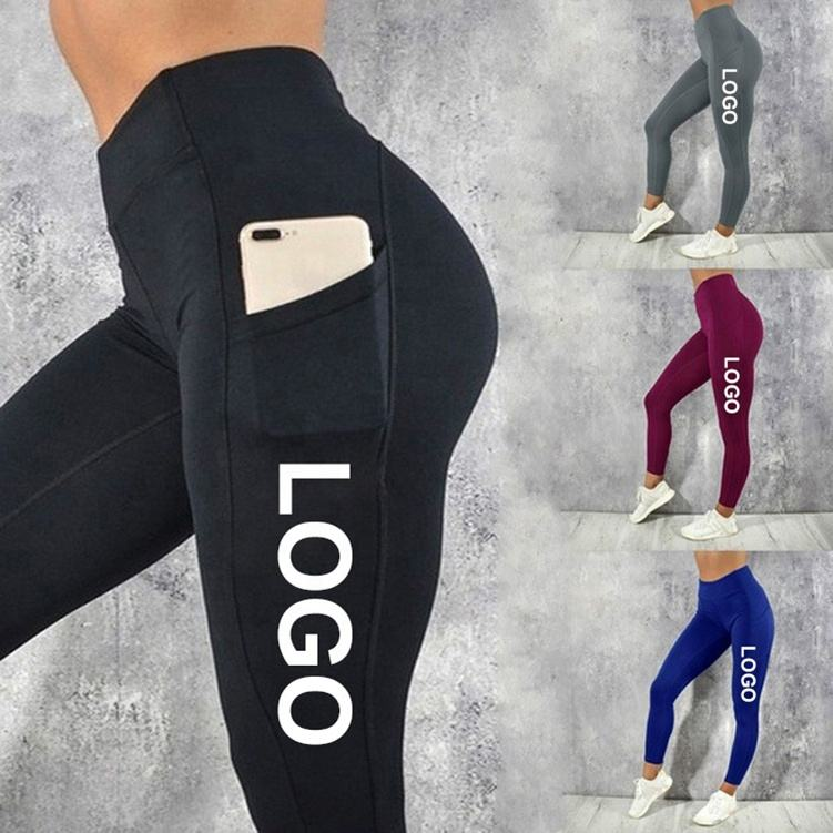 Pocket Yoga Broek Vrouwen Scrunch Butt Workout Leggings Hoge Taille Tummy Controle Gym Sport Leggings Met Steekzakken