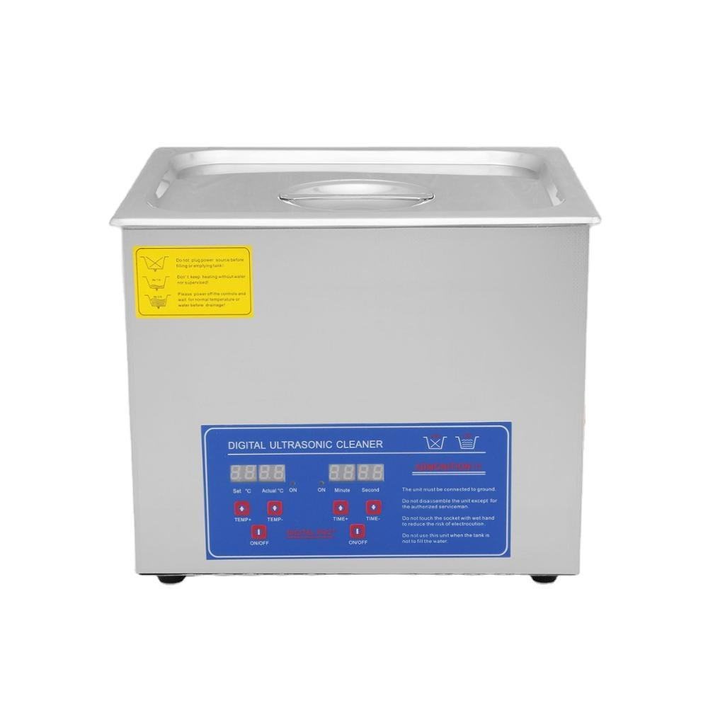 490W 10L Stainless Steel Digital Timer Heater portable ultrasonic cleaner