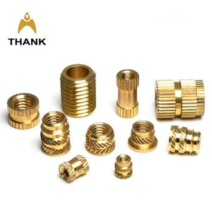 China manufacture M8 M6 M4 M3 M2.5 M2 Knurled brass insert M1.6 nut