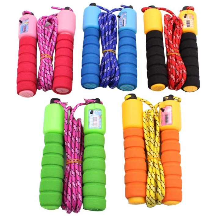 Cotton sponge handle count jump rope /student sporting skipping rope/ Weight Loss Counting Jump Rope