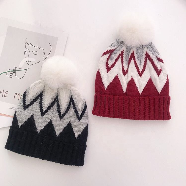 Keeping Warm [ Hat Beanie ] Custom Jacquard Winter Hat 100% Acrylic Knitted Beanie Hat For Amazon