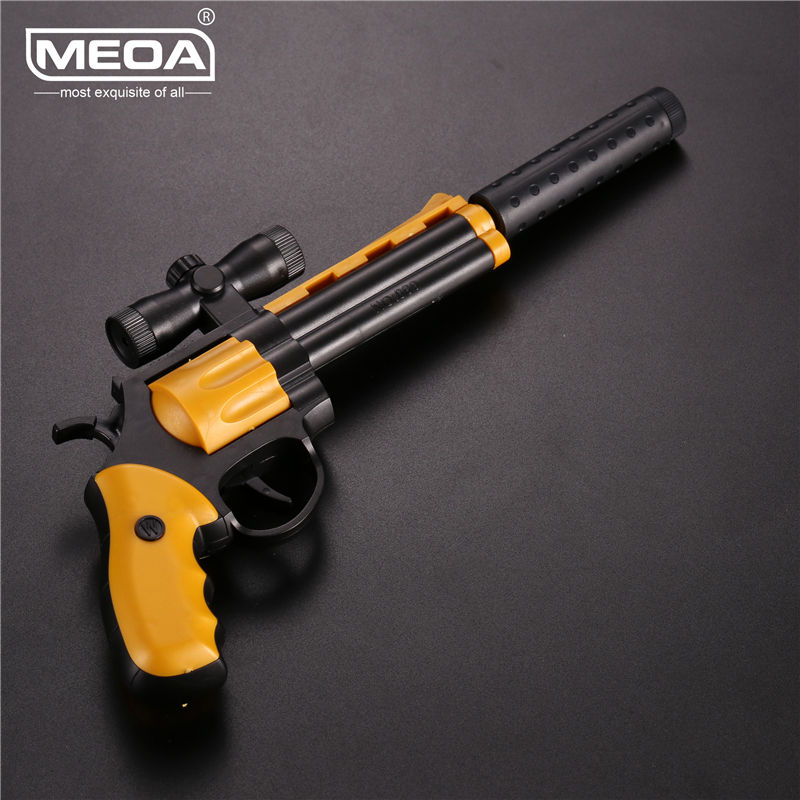 Colt Left Wheel Gun Toys Building Blocks Simulated Pistol Toys Gun Plastic Assembly Pistols Children DIY Toys Can Fire Bullets