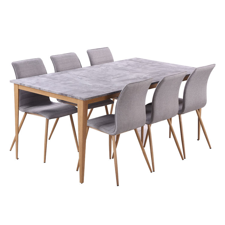 Free Sample Hotel Round Extendable Stainless Steel Wooden Chair Acrylic Italian Dining Table Set