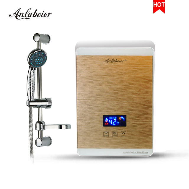 adjustable power from 3.5kw to 5.5kw small electric shower tankless water heater geyser