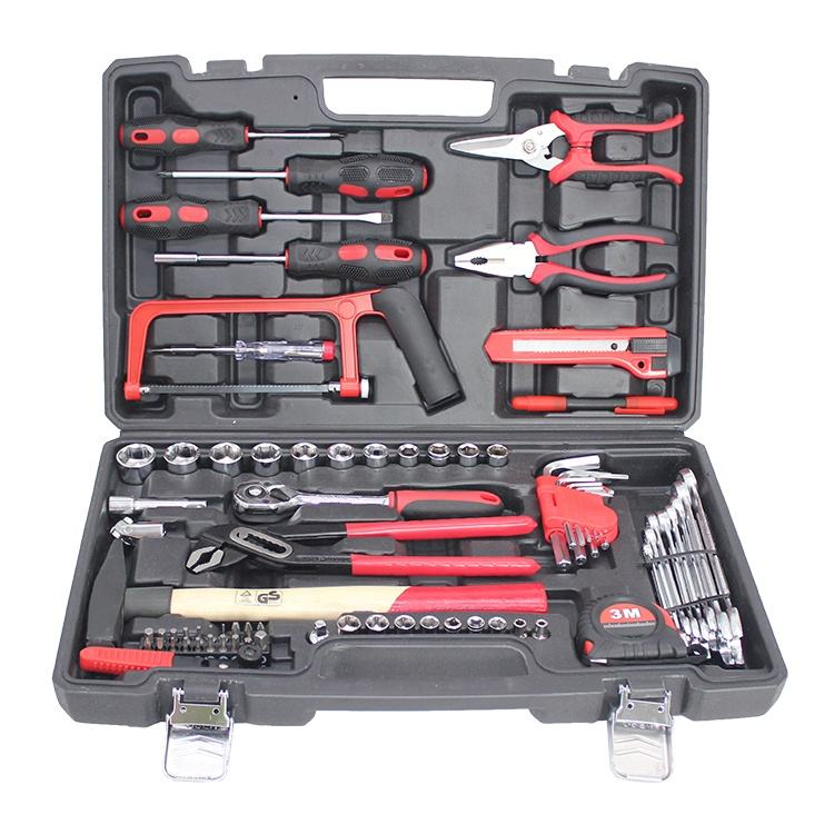 hard plastic household tool box hardware tool set with tool