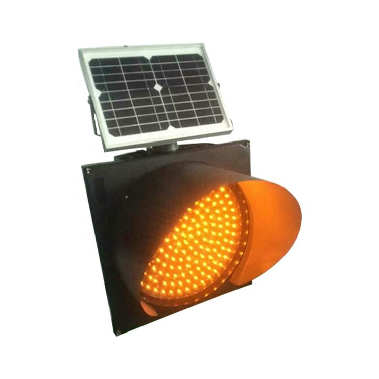 Customized Traffic warning Yellow Solar Flashing powered LED Warning Light