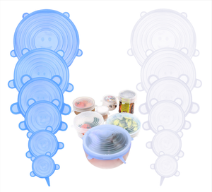 6 Pcs Silicone Cover Lid Fresh Keeping Silicone Stretch Lids For Food Pot Dish Kitchen Accessories