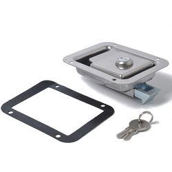2 X Stainless Steel Paddle Latch 119MMx92MM& Keys for Tool Box Lock Trailer Caravan Truck