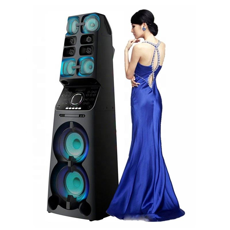 New big outdoor portable rechargeable multifunction karaoke dj active pa system wireless trolley bluetooth speaker