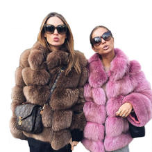 Amazon winter warm clothes ladies faux fur oversize jacket quilted thicken overcoat faux Fox fur coat jacket for women
