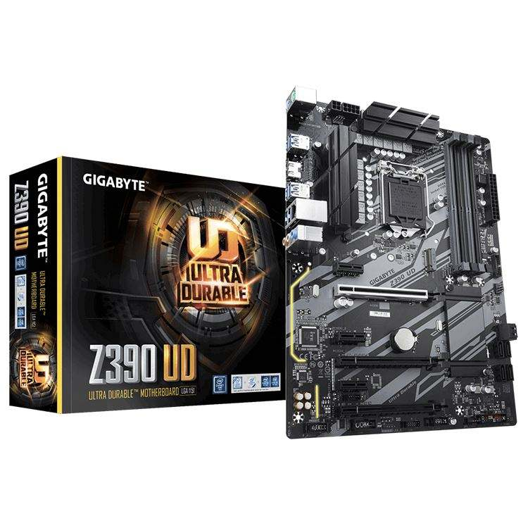 GIGABYTE Z390 UD con-Way CrossFire Multi-Graphics, GIGABYTE GA-GAMING LAN LGA 1151 Z390 <span class=keywords><strong>Chipset</strong></span> scheda Madre di Gioco