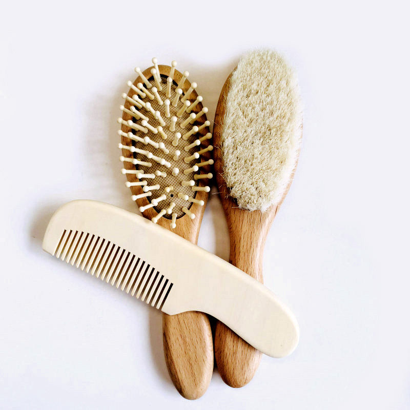 bamboo handle cushion custom natural boar bristle hair brush cleaner wood handle for all