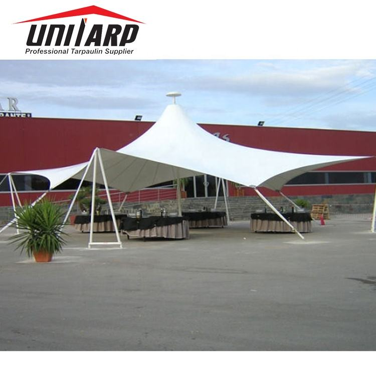 Tear-resistant [ Material ] 100% Polyester Pvdf Fabric Wholesale Pvdf Tension Fabric Square Sunshade Material For Roof Covering