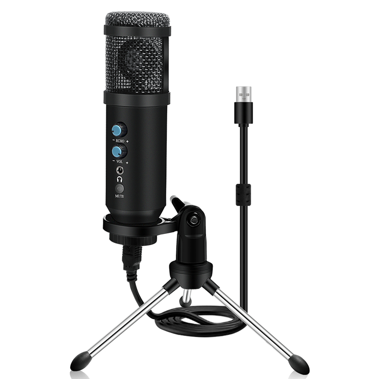 Broadcasting Singing Speech INTERVIEW Desktop USB Mic Condenser Recording Studio Microphone with Tripod Stand