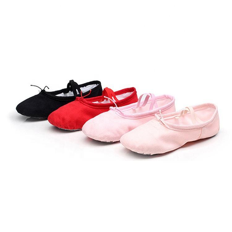 100/% sofe High Quality Soft Split-Sole Canvas Ballet Dance Shoe Slipper cotton