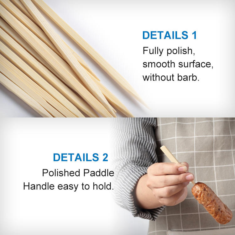 Bamboe Grillen Barbecue Paddle Spies Kabob Bamboe Stok Spies Voedsel Platte Ambachtelijke Stok