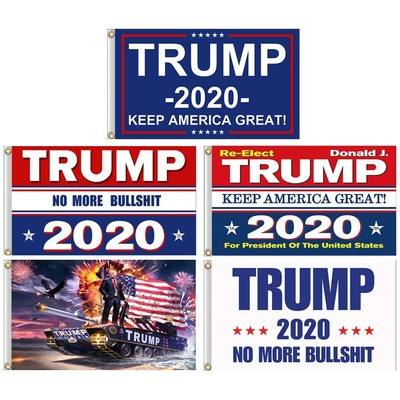 E552 Wholesale Custom Printing Keep America Great 3*5 Donald Trump 2020 Flags Banner Decor MAGA President Election Trump Flag
