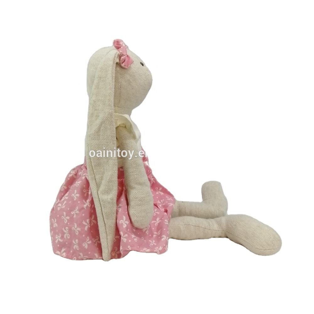Factory ODM OEM Toys Stuffed Bunny Cheap Soft Toys Popular Ready to Ship Product Long Ear Stuffed Plush Bunny