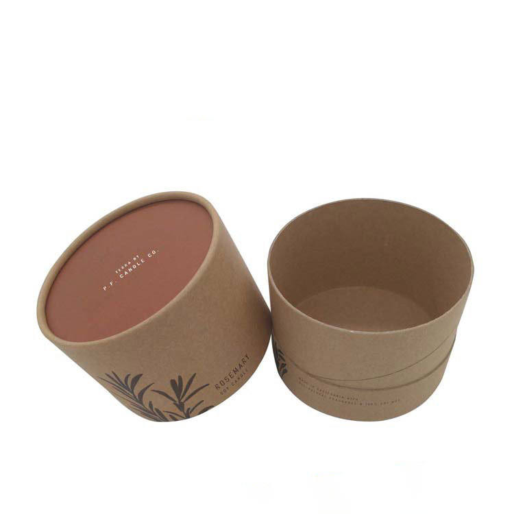Customized Luxury Rigid Kraft Paper Round Tube Gift Candle Packing Box Paperboard Cardboard Packaging Boxes
