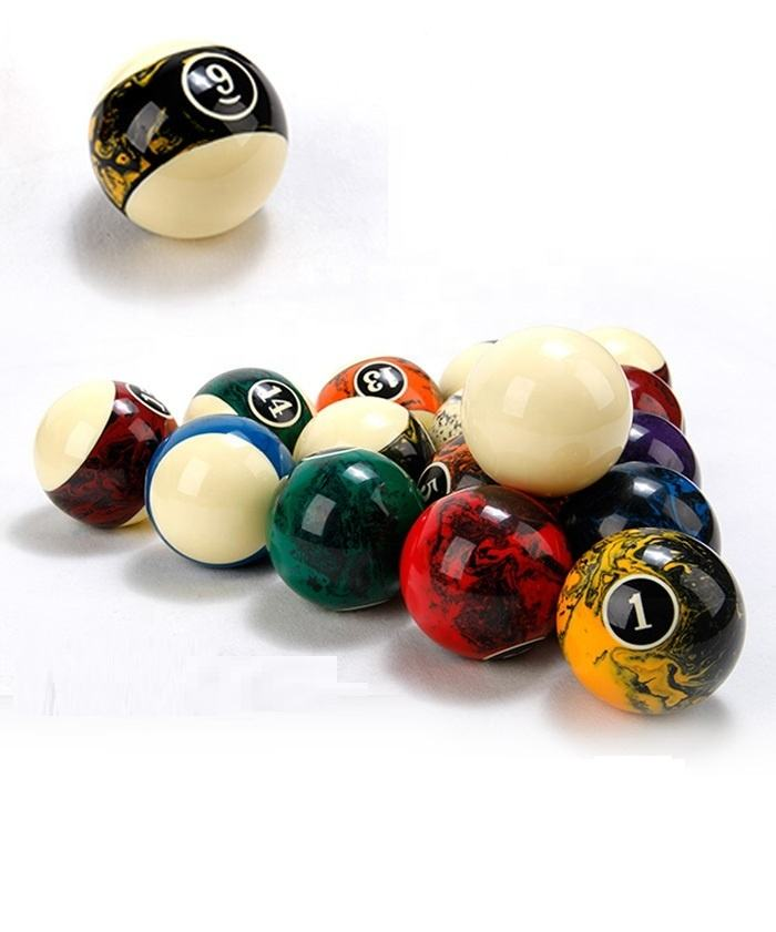 New style marble swirl pool billiard ball 2-1/4inch
