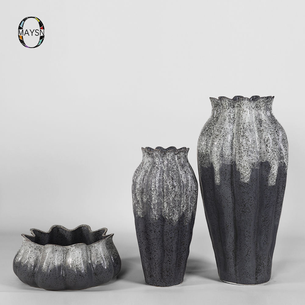 Nordic style ceramic tall vase sets glazed porcelain modern flower vases for vases for home decor design hotel decor