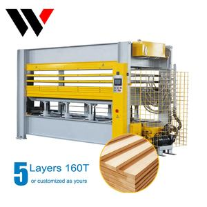 Mdf plywood hydraulic laminating melamine wood hot oil press machine for veneer