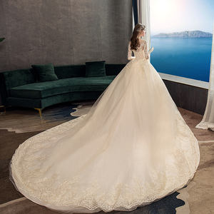 OEM fancy plus size custom wedding gown marry dress 2020