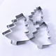 Christmas Cookie Cutter Set 3 Piece Stainless Steel