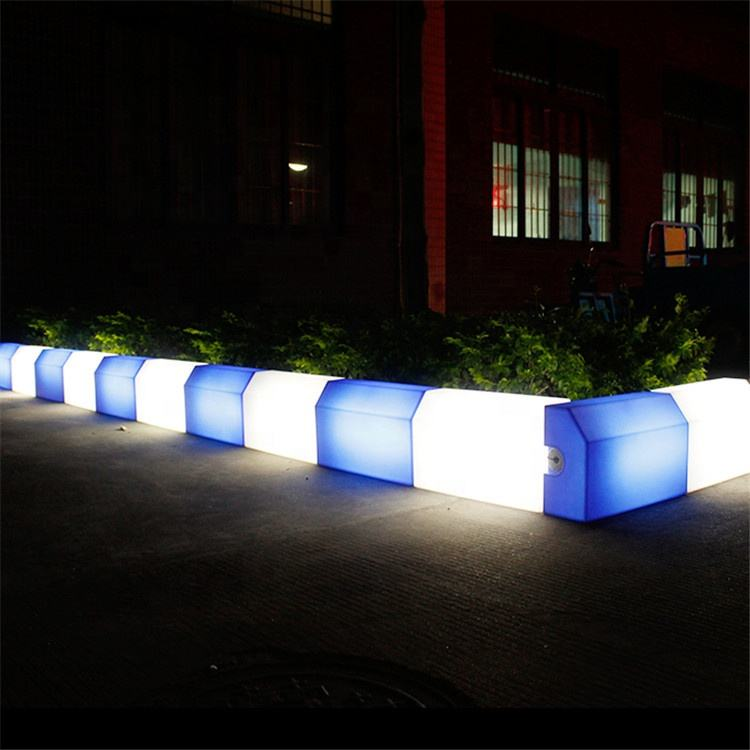 Concrete road plastic kerb curb stone mould for precast concrete led curbstone