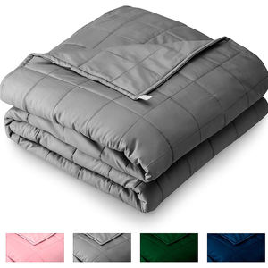 Home Weighted Blanket for Kids 10lb All-Natural 100 % Cotton Heavy Blanket Nontoxic Glass Beads