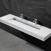 China Popular Vanity Sink Cast Stone Basin Vanity Double Lavabo Designs Sink Bathroom(For Hotel)